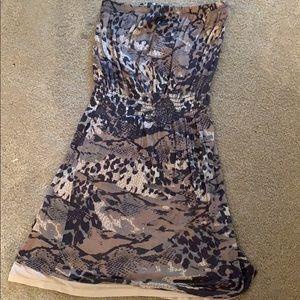 Aqua by Bloomingdales printed strapless dress